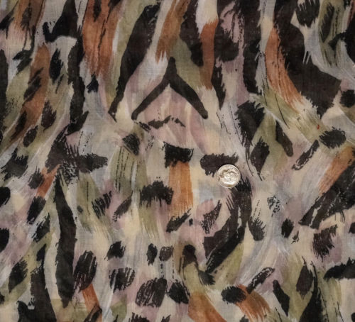 Vintage Leopard Animal Print Cotton Voile Fabric Lorber Industries WILD THING 3