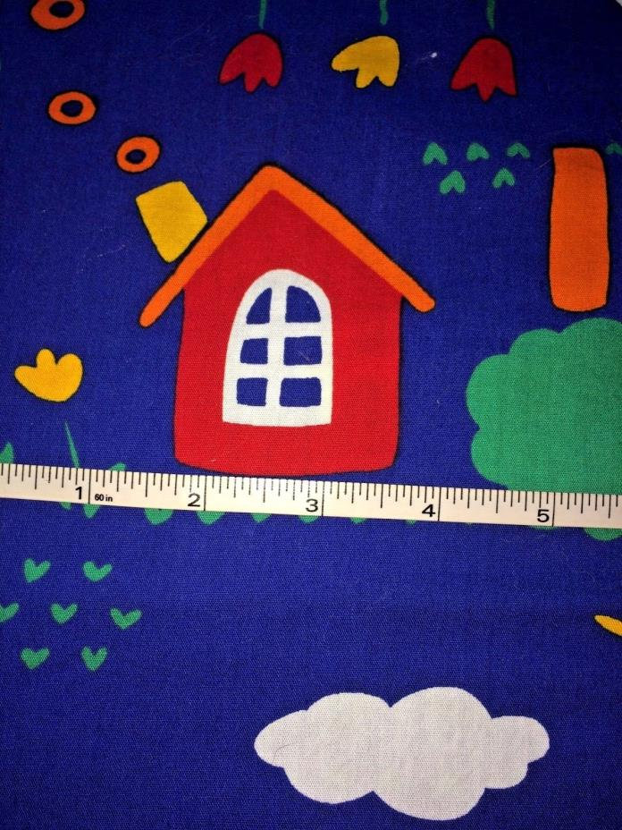 Children's Fabric Blue Red Green Hoffman 2 1/2 Yds x 42