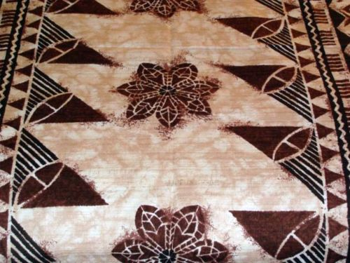 VINTAGE GORDON HAWAIIAN TRIBAL FABRIC MADE IN JAPAN**OVER 7 YARDS**WOW!!