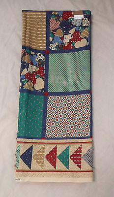 Fabric Cotton Print Fabric Traditions Blocked Hearts Squares 45 W 1 1/2 Yards