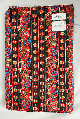 Fabric Remnants Cotton Print Crafting Quilting Semi-Paisley 2 Pc Each 38x36 In