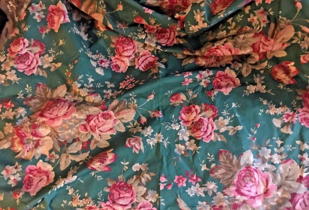 RALPH LAUREN  ADIRONDACK FLORAL & GREEN  16 plus YARDS FABRIC