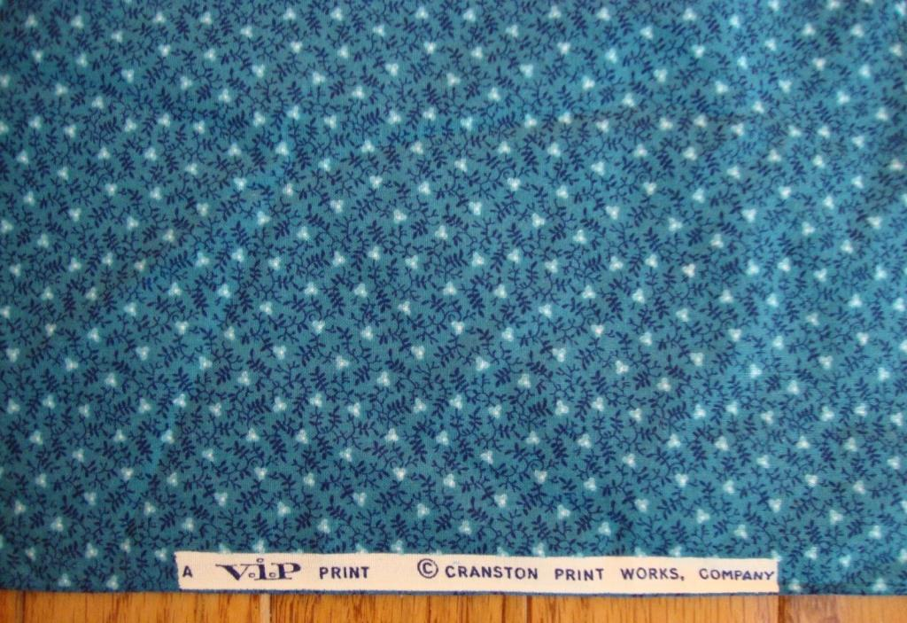 Cranston Cotton Quilt Fabric Blue Tiny Flowers 41