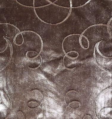 RUBELLI Sanova Swirls Taupe Cotton Velvet New Remnant