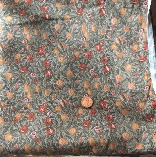 "1 1/8 Yds X 42"" VINTAGE Rose & Hubble William Morris POMEGRANATE Cotton Fabric"