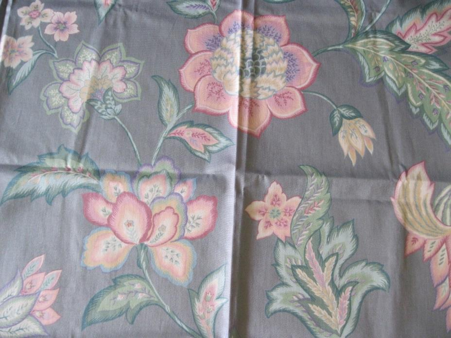 Bright Surf blue Interior home decor fabric samples large flowers floral 53 x 35