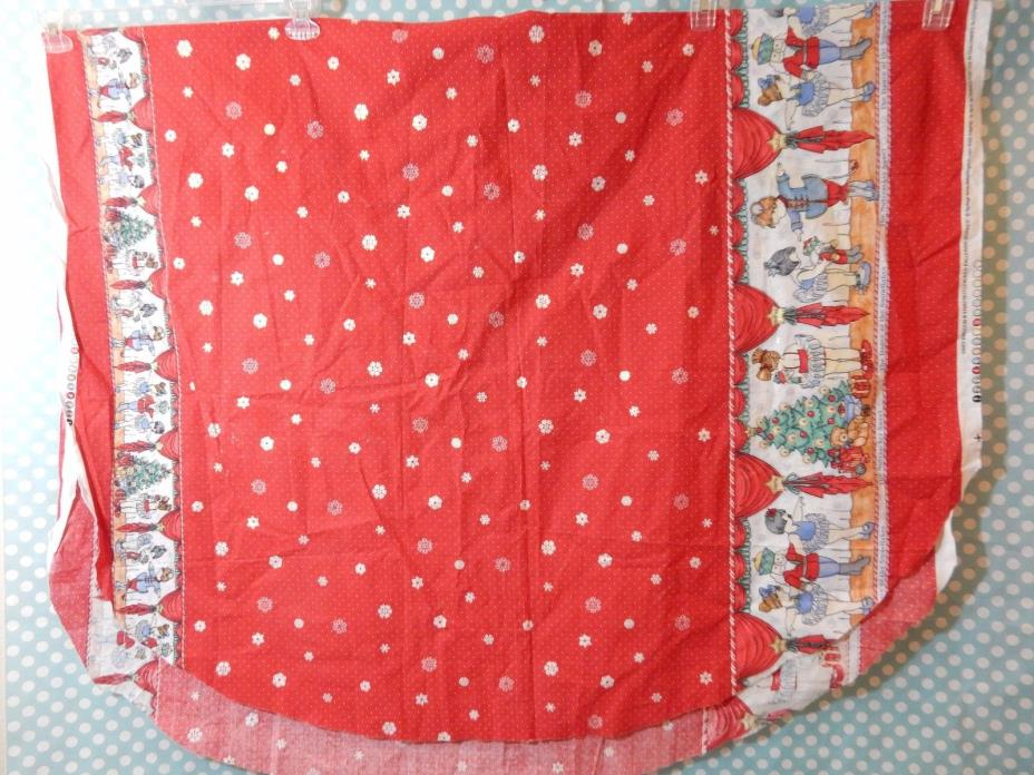 Vintage Daisy Kingdom Red Nutcracker Ballerina Fabric Border Print 1 1/3+