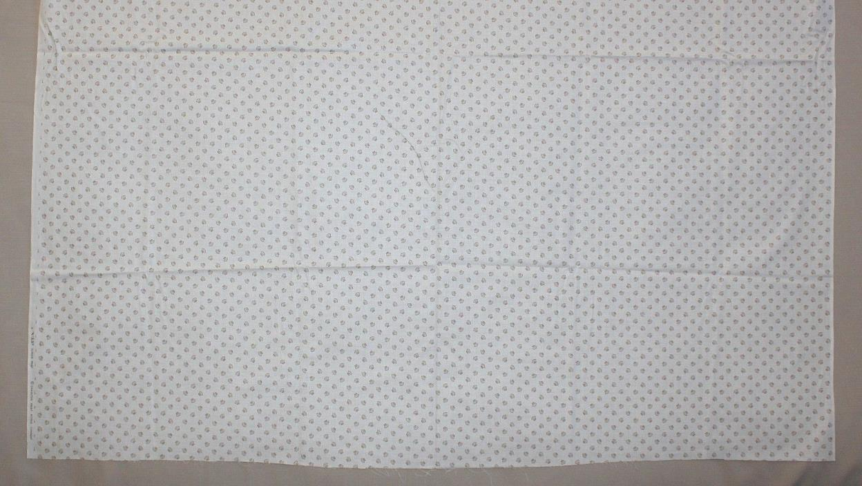 2 1/2 Yards Small Brown Shells Cream Cranston Screen Print Cotton Quilt Fabric