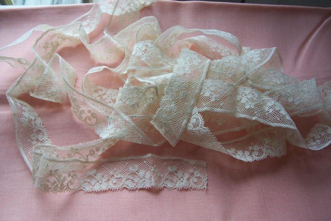 Vtg  Trimming  Lace FLoral For French German Bisque Doll Dress 3 yards +++