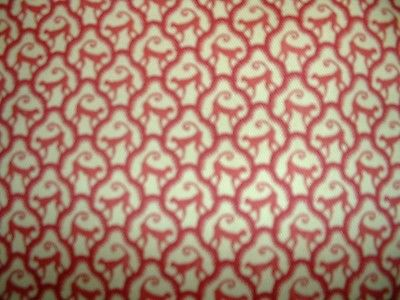 3.6 yds. P Kaufmann Monkey Business Red on Goldtone Curtain Drapery Fabric 54