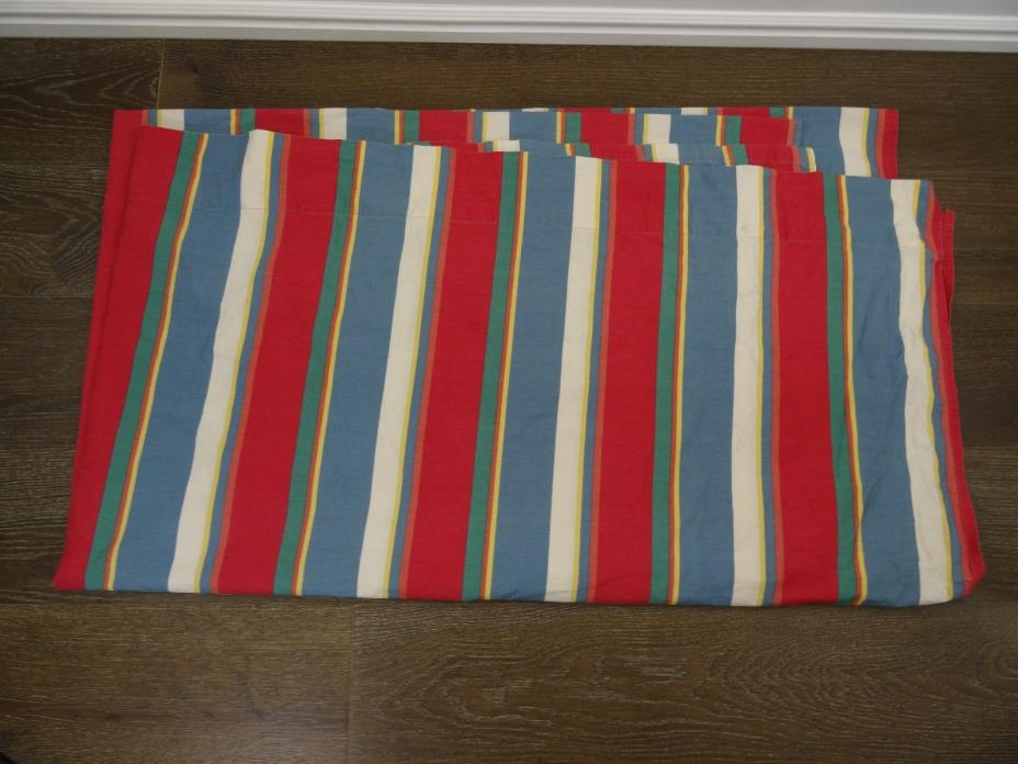 Vintage Ralph Lauren Flat Sheet Colorful Stripe Full