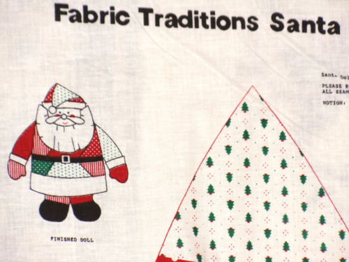 Cotton fabric panel printed Fabric Traditions Santa Doll pattern  35