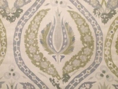 CARLETON V Benaki lavender green Central Asian linen print new remnant