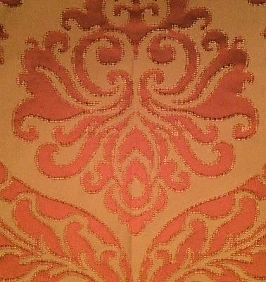 OSBORNE & LITTLE Abacus Damask Rust Italy Remnant New
