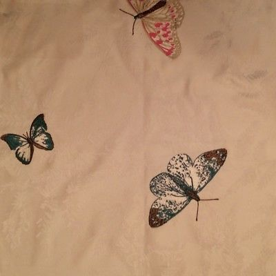 OSBORNE & LITTLE Nina Campbell Farfalla Silks Butterflies Remnant New
