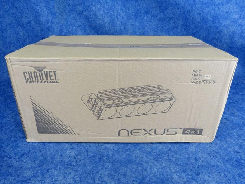 CHAUVET Nexus 4x1 4-Cell COB RGB LED Fixture works with Kling-Net, Art-Net & DMX