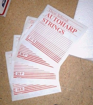 Oscar Schmidt AutoHarp Strings Set 4 New 28 E 29 F 30 F# 31 G Model Type B