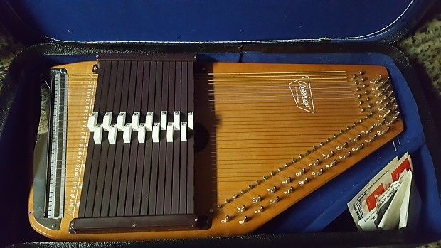 Vintage Oscar Schmidt Autoharp 15 Chord 36 Strings Case Accessories Needs 1
