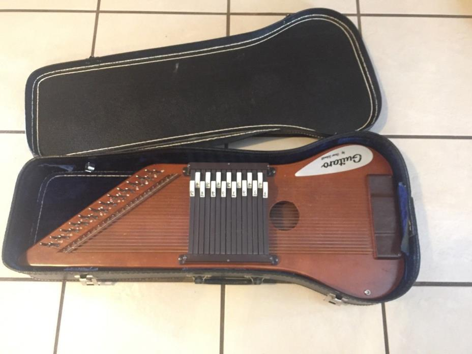 Oscar Schmidt Rare Vintage Guitaro Auto harp 24 Strings 15 Chords with case