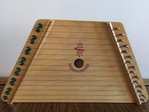 •£ Dulcimer-Nepenenoyka Wood 15 String Folk Art Lap Harp From Belarus