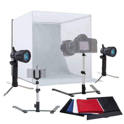 Light Room Photo Studio Photography Lighting Tent Kit 4X Backdrop Mini Cube Box