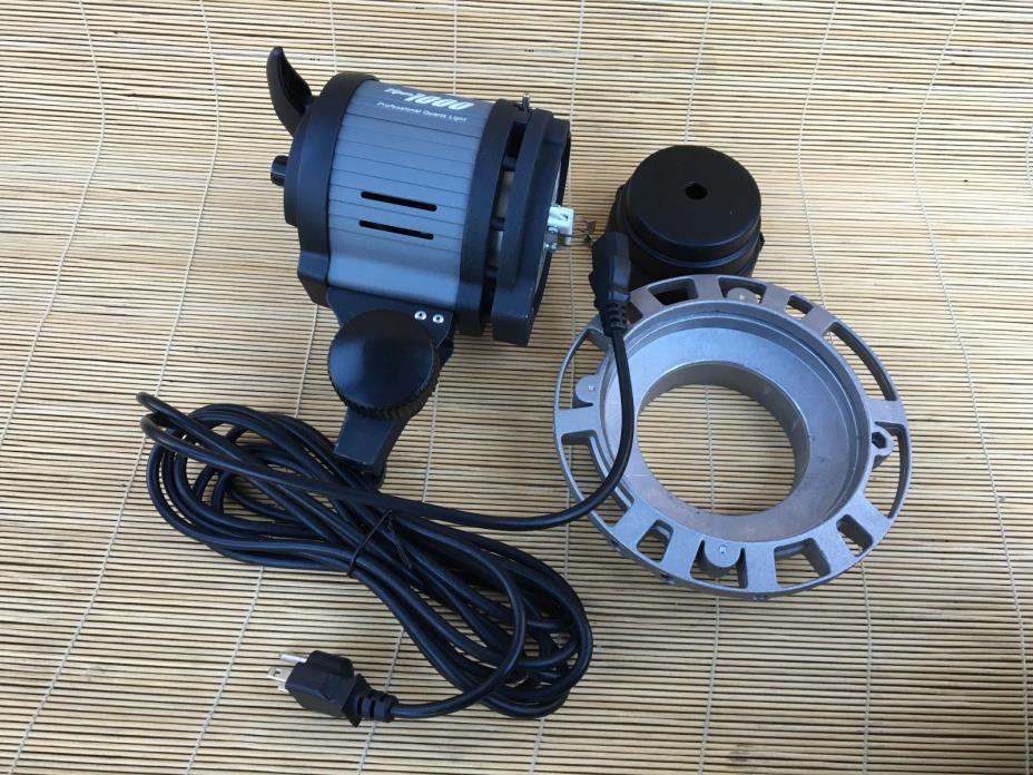 Vu-Pro VIPER 1000  Adjustable Photo  Video Light Quartz Halogen Light, NO BULB