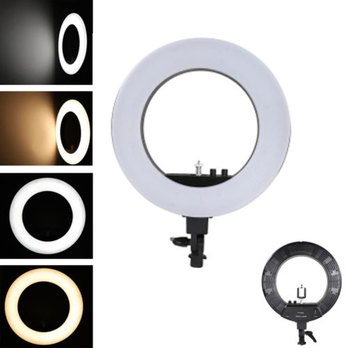 Kshioe 18 Inch 240-LED 5500K Dimmable Ring Light Black (US Plug)