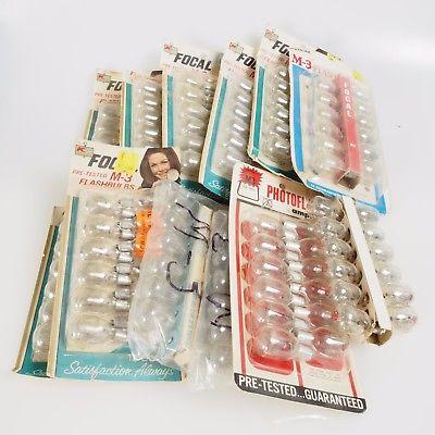 :) 4 Lots of 144 M3 Flash Bulbs 12 packs Vintage Bulbs (Various Brands)