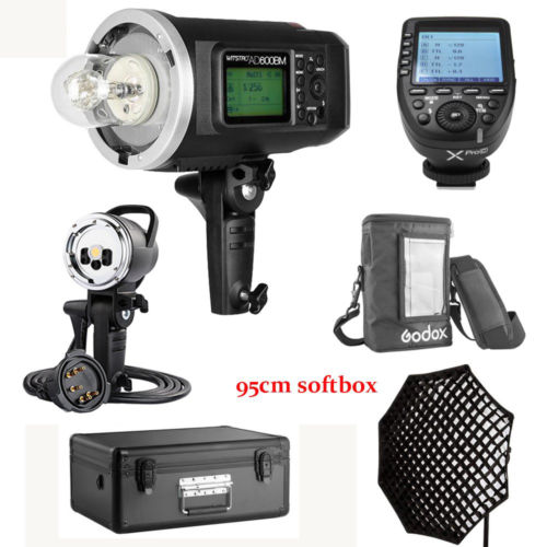 US Godox AD600BM 600W HSS Flash+AD-H600B+95cm Grid Softbox+XPRO-C For Canon Kit