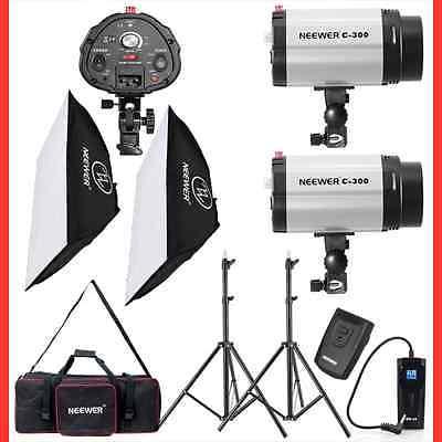 New Photo Studio 600W Monolight Strobe Flash Light Softbox Lighting Kit Complete