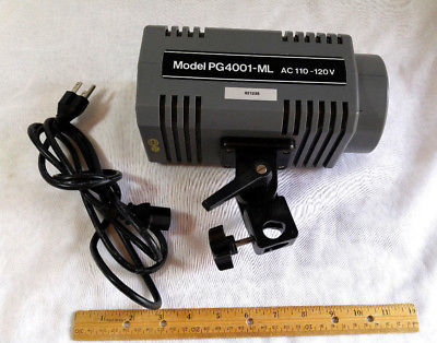 Medalight Studio Strobe / Model Light & Cord - PG4001 ML - Great Unit