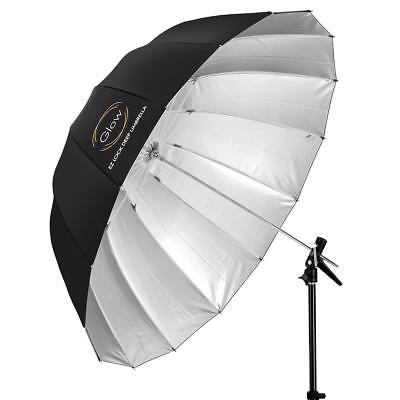 Glow Easy Lock Large Deep Silver Fiberglass Umbrella (51