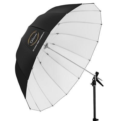 Glow Easy Lock Medium Deep White Fiberglass Umbrella (41
