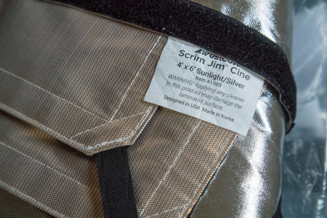Westcott Scrim Jim Cine Full-Stop Diffuser Fabric Sunlight/Silver (4 x 6')