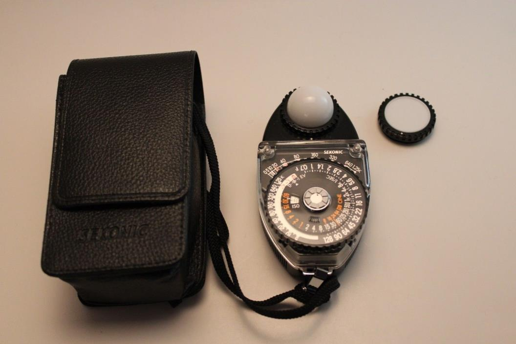 Sekonic L-398M Studio Deluxe II Light Meter With Case  (Free Shipping)