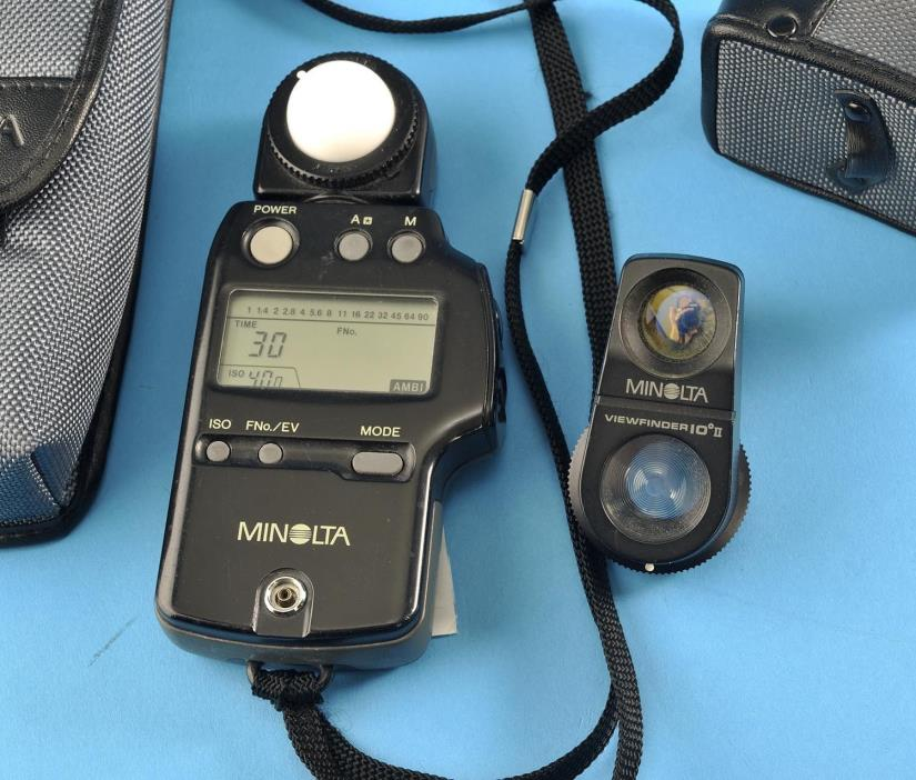 Minolta Autometer IVF Ambient & Flash Meter w/ Spot Clean Exc