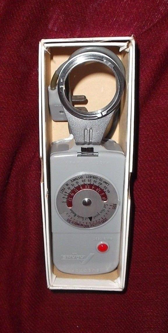 Rare Vtg Adams Ejector Hand Held Light Meter EUC Made In Japan in Orginal Box