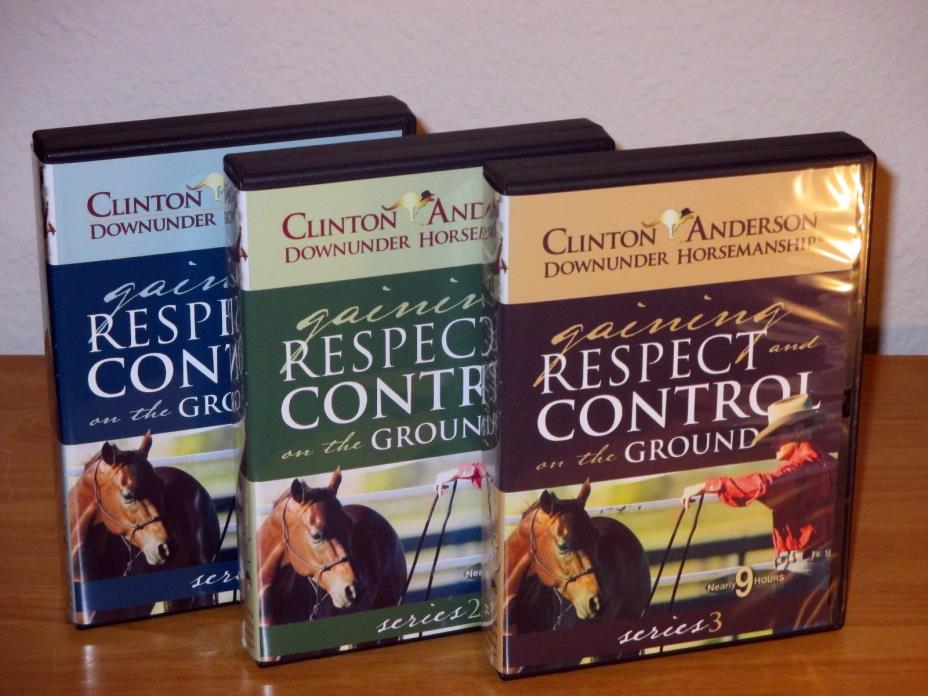 Clinton Anderson Gaining Respect & Control 1, 2 & 3 Horse Training DVD's 13 disc
