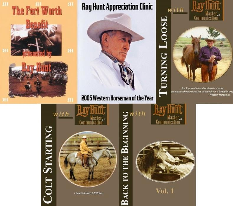Ray Hunt Colt Starting, Back to the Beginning, Turning Loose & More DVD set