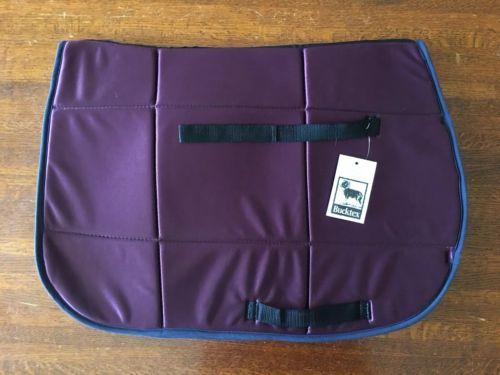 Casel-Equi Square Saddle Pad - Purple Bucktex