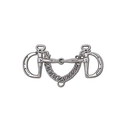 Toklat Stainless Steel Snaffle Uxeter Kimberwick English Bit with 3 1/2