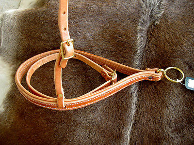 Amish USA Horse Tack Hermann Oak Leather Roper Noseband with Cavision 975H925