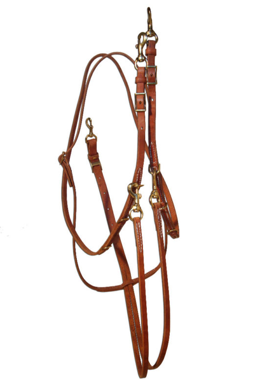 Amish MADE IN USA Horse Tack Hermann Oak Leather German Martingale Brass 975H848