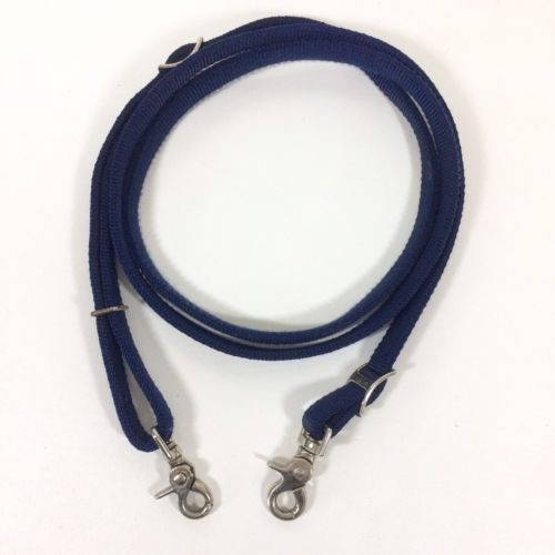 7.25' Navy Blue Nylon Western One Piece Reins Adjustable Barrel Trail 5/8