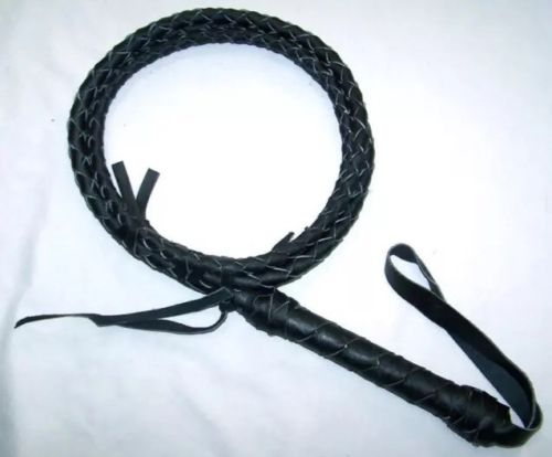 Bull Whip Real Leather BLACK BULLWHIP 6 Ft 4 Plait Be Rodeo Western Cowboy