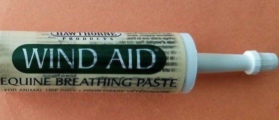 WIND AID EQUINE BREATHING PASTE SYRINGE 1 OZ  EXP 02/19