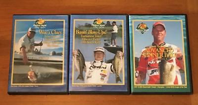 Bass Fishing Secret Tactics Spinnerbaits Jigs Buzzbaits Poppers 3 DVD Lot