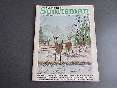 Vintage Wisconsin Sportsman Magazine November/December 1973 Good Condition