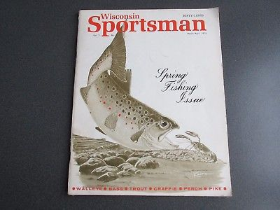 Vintage Wisconsin Sportsman Magazine March/April 1973 Good Condition