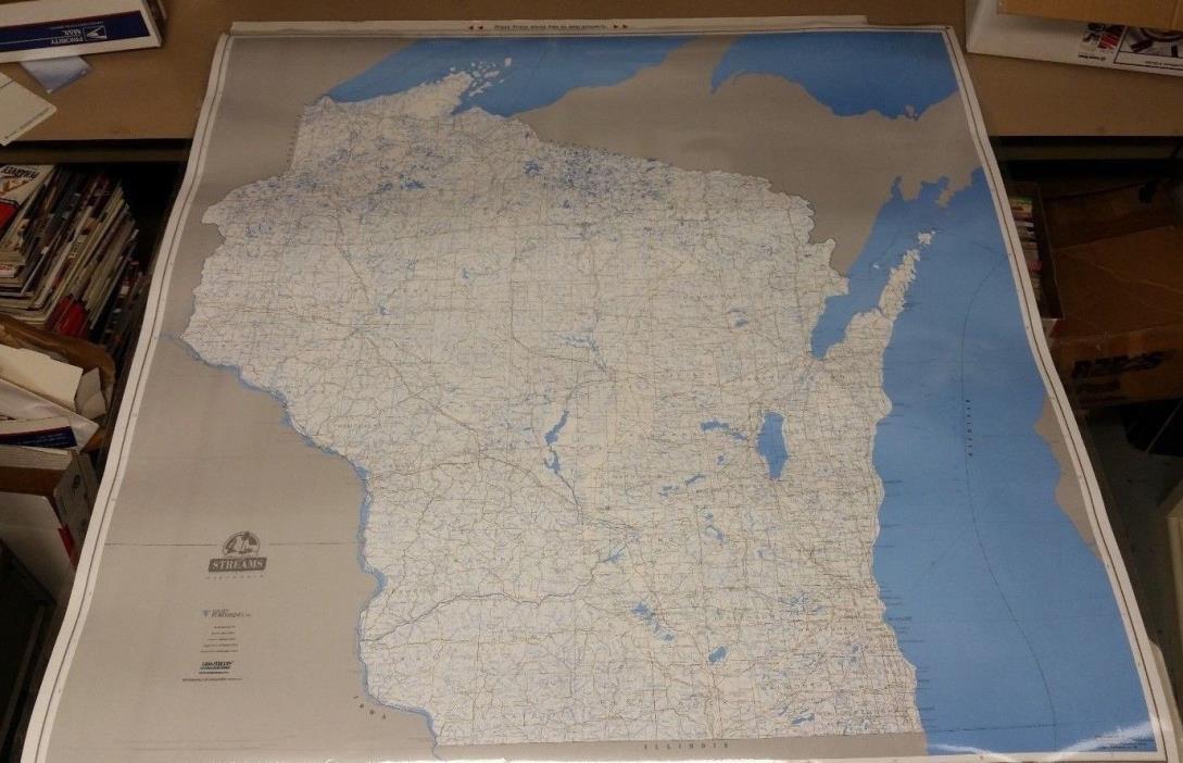 Wisconsin Fishing Stream Map 44